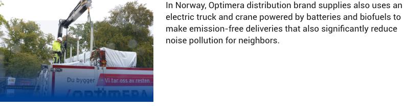 optimera emission free deliveries