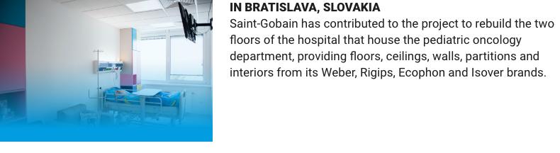 slovakia saint gobain rebuild hospital