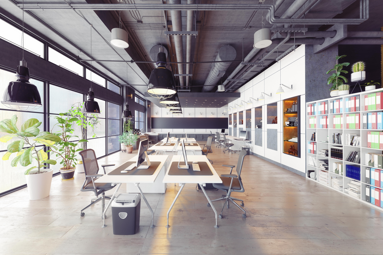 empty open concept office