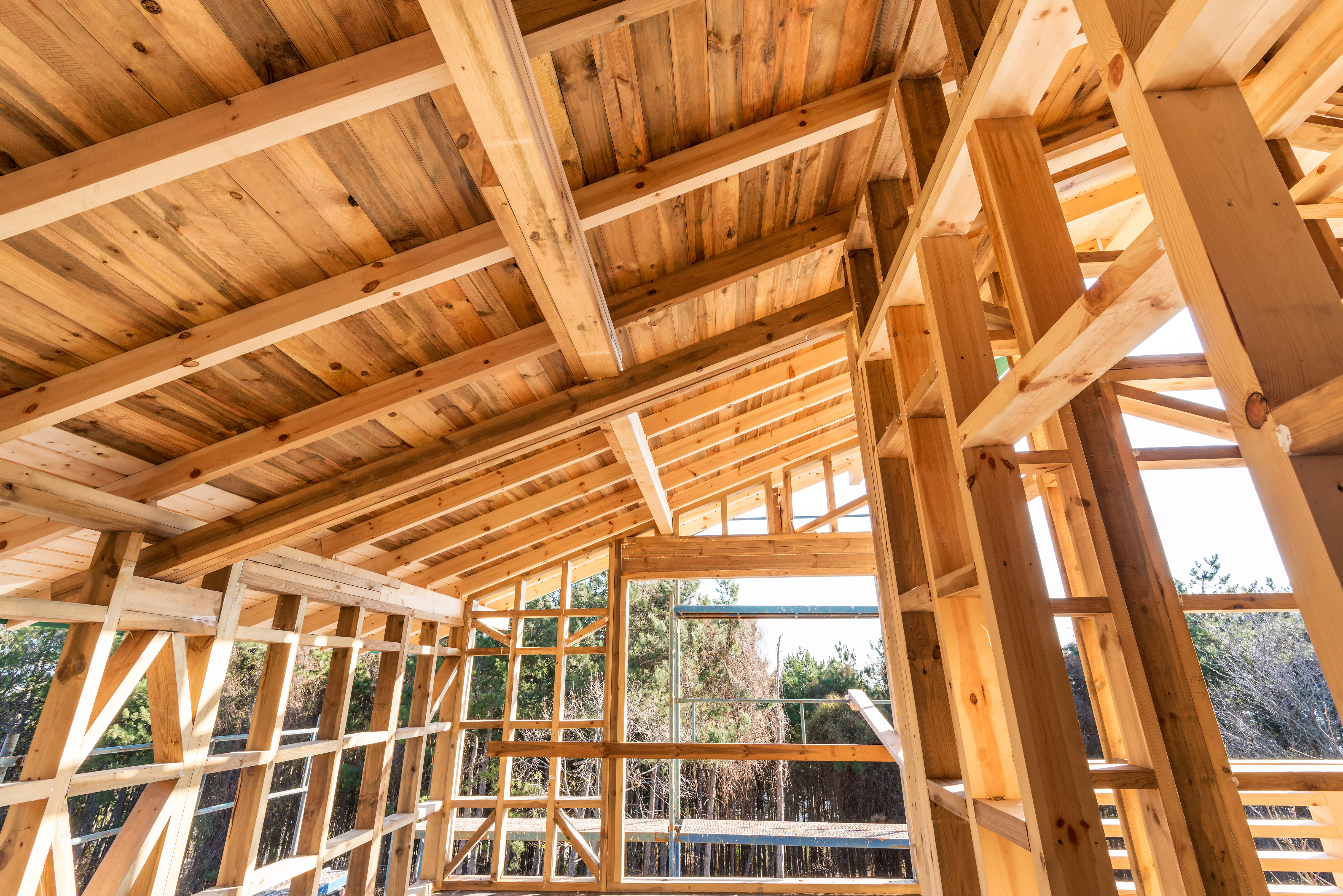 wooden ceiling structure