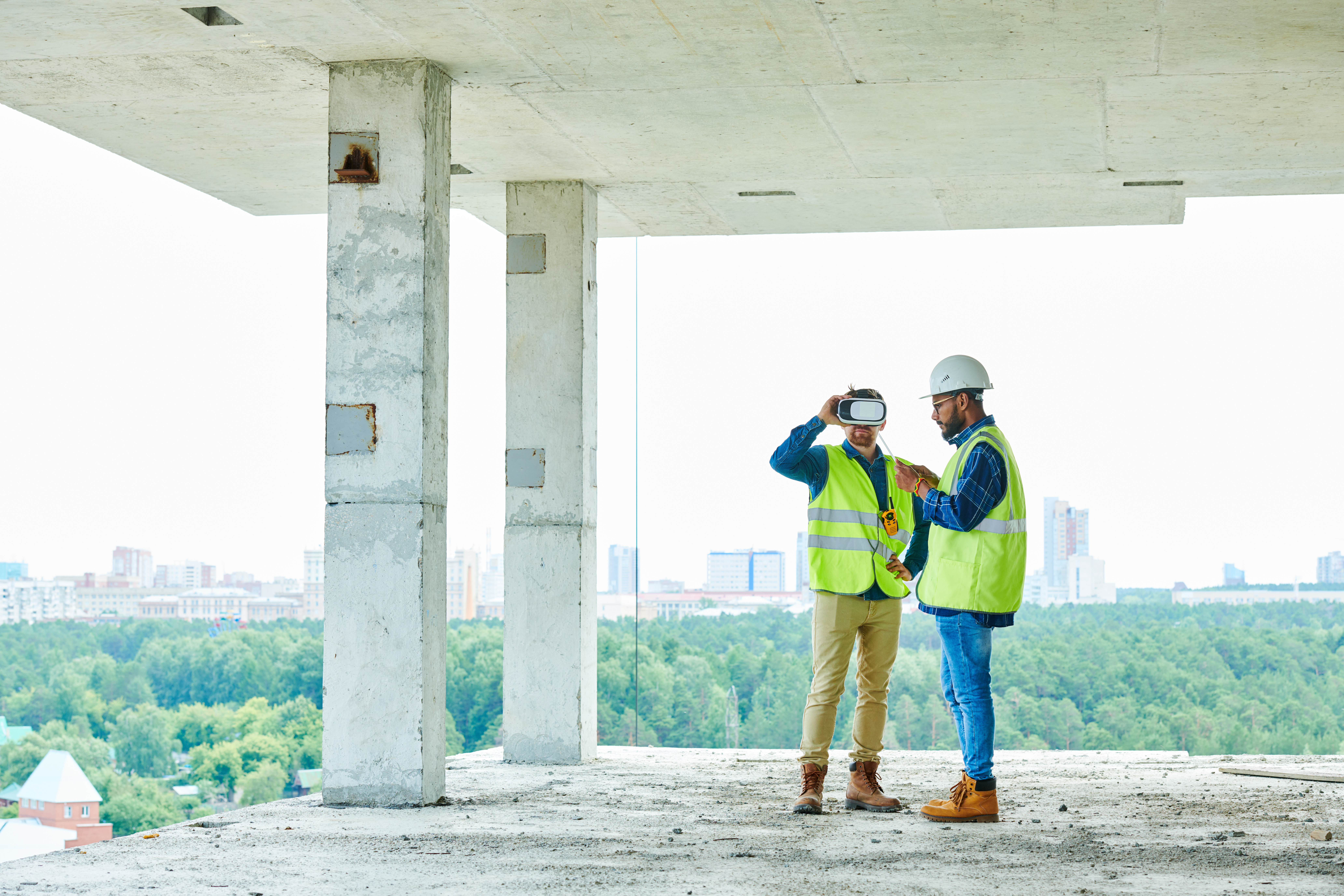 engineers in construction site